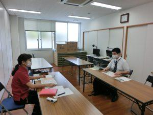 島根県立盲学校理療科に赴任された新任教諭へのガイダンスを行う